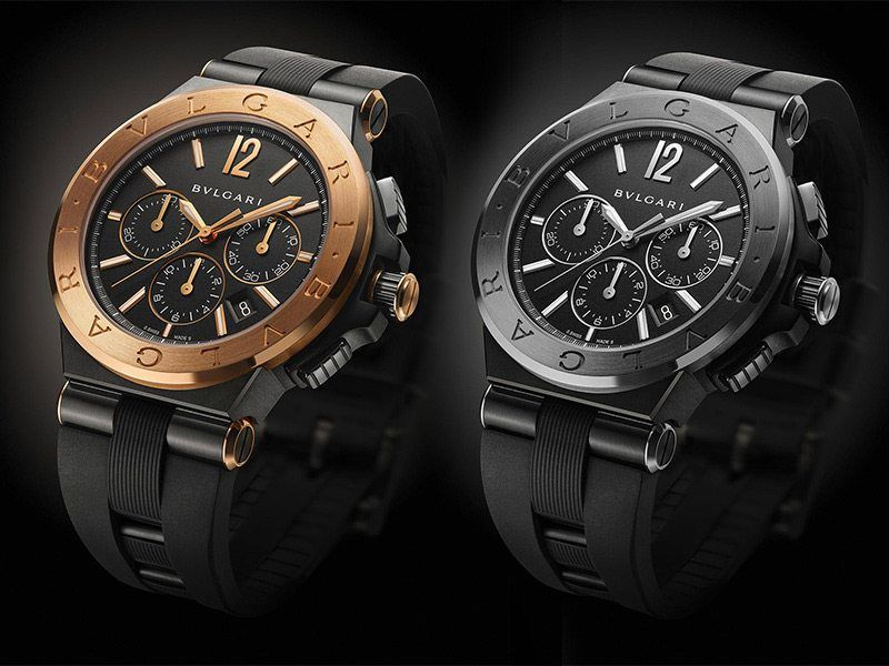 Bulgari Diagono Ultranero Chronograph Watches