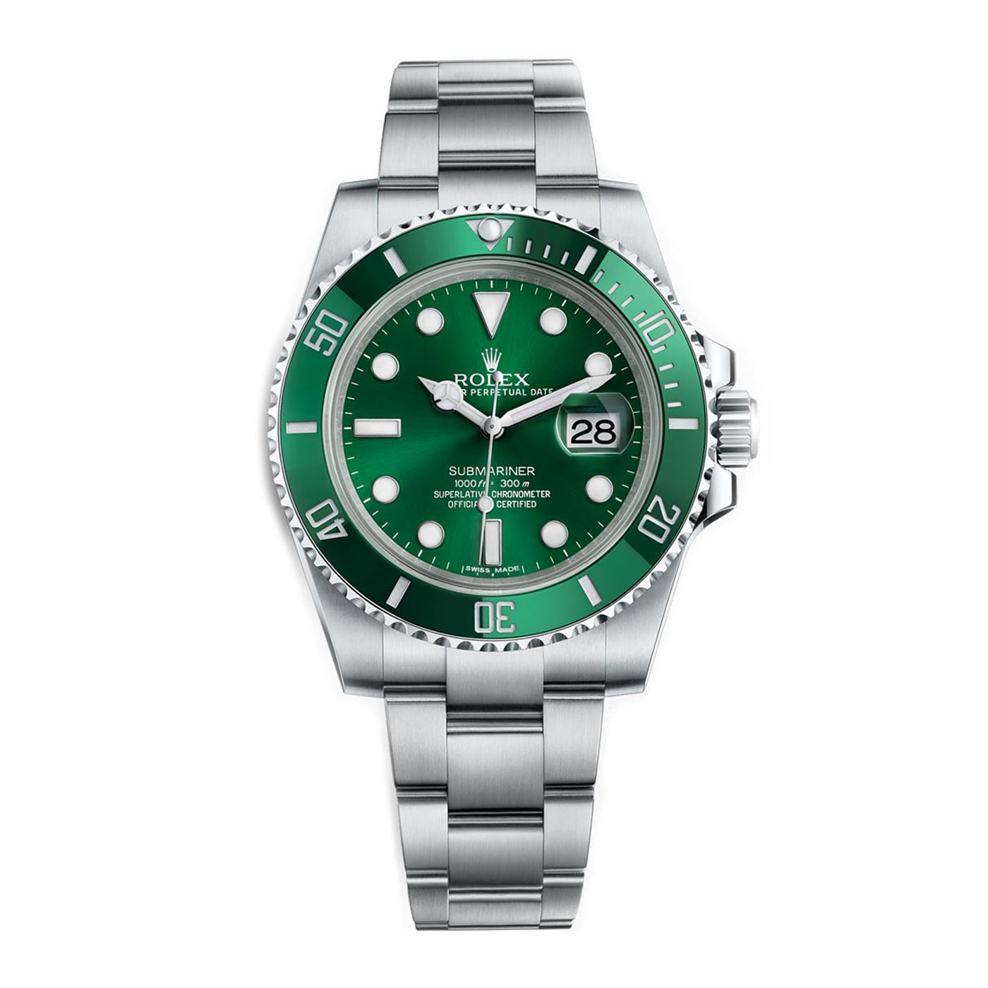 Rolex Submariner Steel Green Dial (Hulk) 116610LV 3135 ETA SAAT