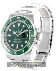 Rolex SUBMARINER HULK Stainless Steel Green Ceramic Swiss Eta Saat