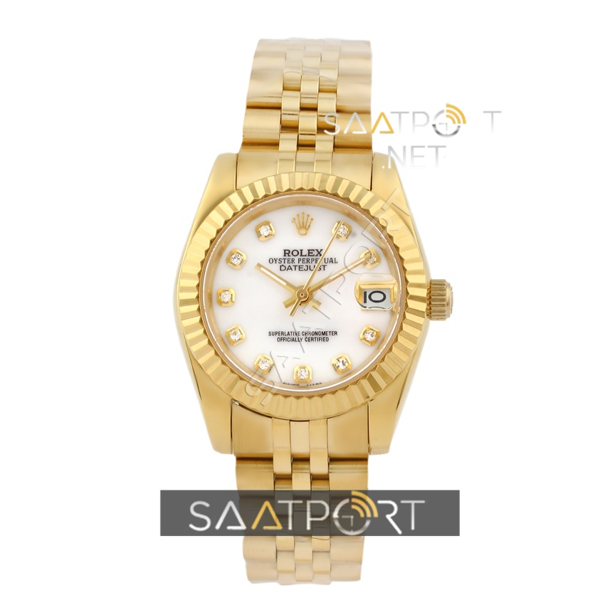 Rolex Datejust Jubile Bayan Saati Gold