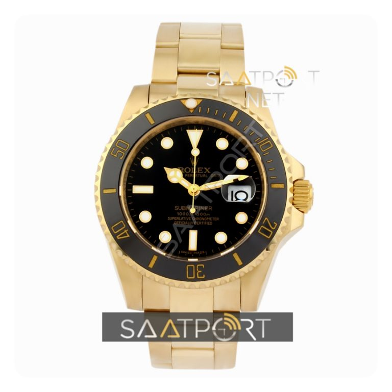 Rolex GMT Gold Case Black Dial