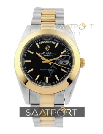 Rolex Day Date Two Tone Black Dial