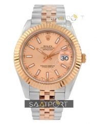 Rolex Datejust Two Tone Rose Dial Jübile