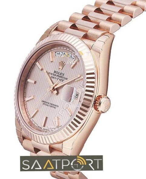 Rolex Day-Date Replika Rose Gold Eta 3255 Mekanizma