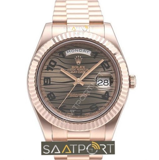 Rolex day date rose gold wawe 41 mm 218235