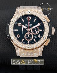 Hublot Big Bang Taşlı Model Gold Saatler Replika