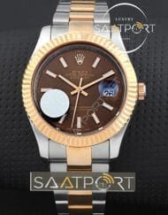 Datejust 41 Chocolate Brown Dial Steel