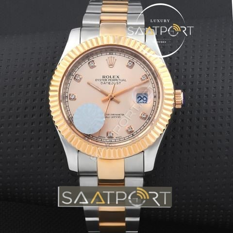 Replika Rolex Datejust taşlı model rose gold minju