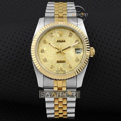 Rolex DateJust 69173 Champagne Diamond Dial