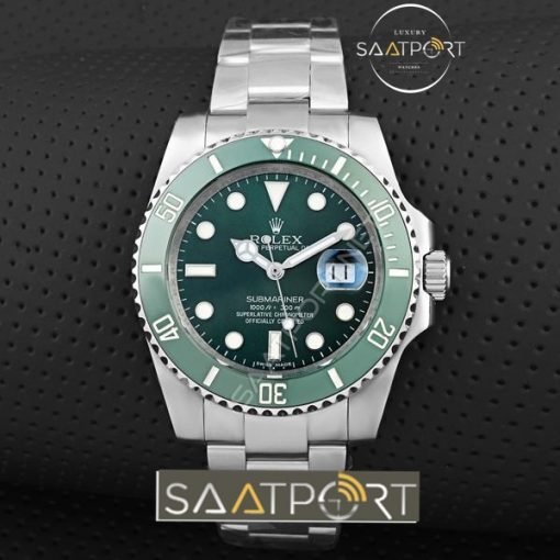Rolex Submariner Green Replika saat yeşil hulk