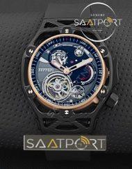 Hublot Ferrari Tourbillon Replika Saat kronograf Karbon