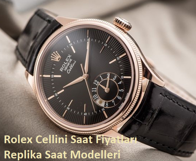 Rolex cellini 39 dual time everose altın replika