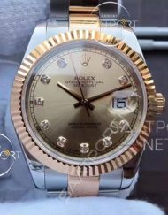 Rolex Datejust 36mm Sarı Kadran Replika Saat