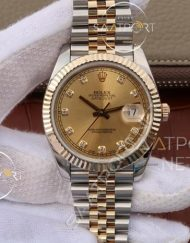 Replika Rolex Datejust 36mm Sarı Kadran