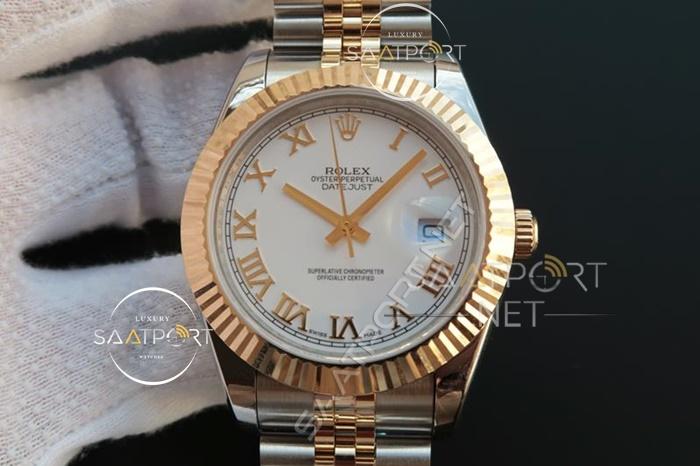 Replika Rolex Datejust Roma Rakamlı 36mm