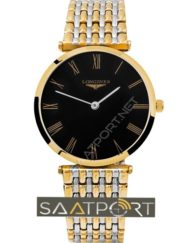 Longines Grand Classic Slim line Gold Çelik Kordon Black