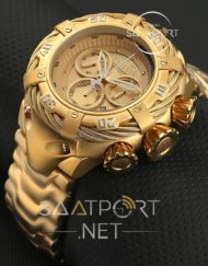 İnvicta Reserve Bolt Chronograph gold çelik kordon