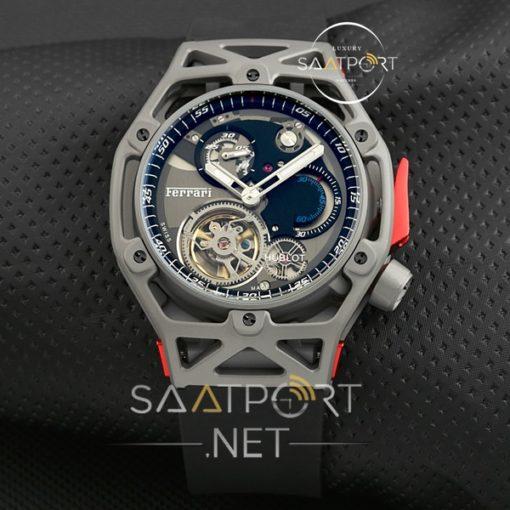 Hublot Türbülonlu Saat Otomatik Yeni model Ferrari saat gri kasa