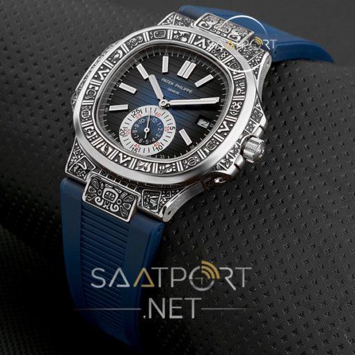 Patek Phılıppe Nautilis Saatler Gümüş Kasa İşlemeli