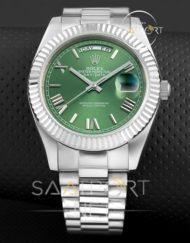 Replika Saat Rolex Day Date yeşil kadran otomatik saatler