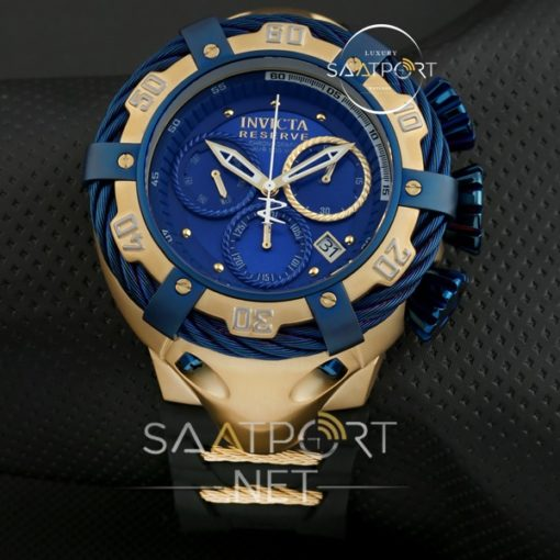 Reserve Bolt Chronograph Silikon kordon mavi