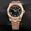 Rolex Day Date Rose Gold Siyah kadran