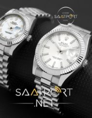 olex date just bayan saat white dial replica