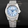 Rolex Day Date Arap Kadran mavi çelik kordonlu