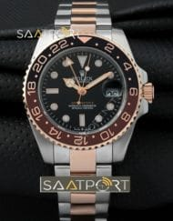 Rolex GMT-Master II Root Beer Rose Gold Black Brown Ceramic Bezel