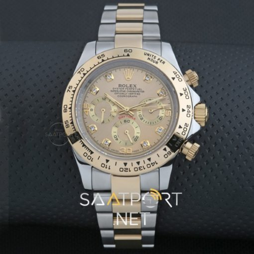 Rolex Daytona Cosmograph Two Tone Gold Dial Baget Diamond
