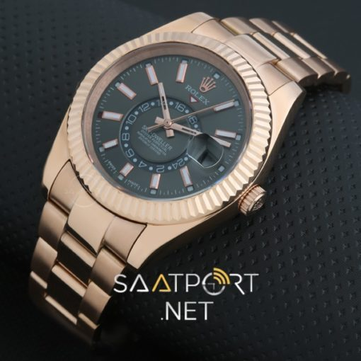 Rolex Sky Dweller 42mm Dark Rhodium Dial Rose Gold
