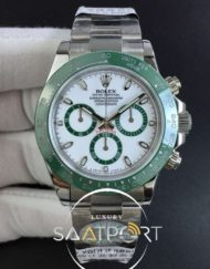 Daytona 116500 LV Green Ceramic Best Edition White dial 4130 Eta Mekanizma