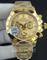 Daytona JHF 11 Best Edition YG Plated Case and Bracelet On Yellow Gold Dial A7750 (1)