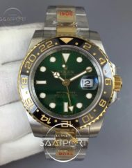 GMT Master II 116713 GM Maker 904L Steel Edition Green Dial on Bracelet A2836