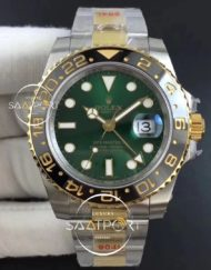GMT-Master II 116713 LN Black Ceramic SSYG GMF 11 Best Edition Green Dial on SSYG Bracelet A3186 (Correct Hand Stack)