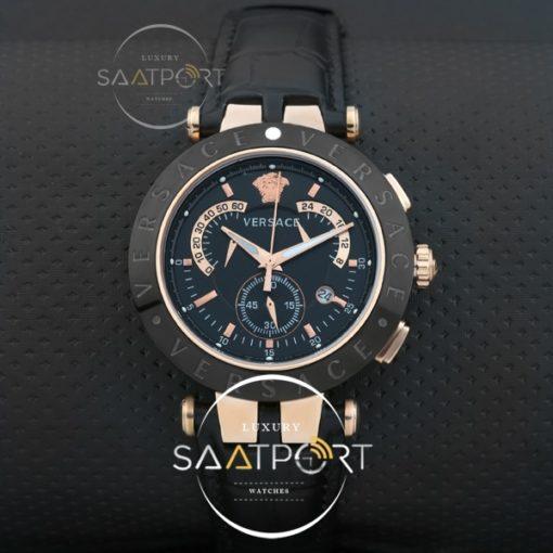 Versace Erkek Kol Saati Gold Kasa Seramik mat Cronometreli