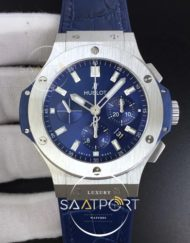 Hublot Big Bang 44mm SS V6F 11 Best Edition Blue Dial on Blue Gummy Strap HUB4104