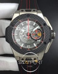 Hublot Big Bang Ferrari Unico Titanium V6F Best Edition Skeleton Dial on Black Gummy Strap HUB1288