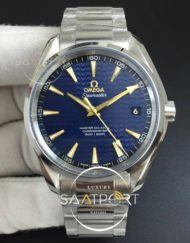Omega Aqua Terra 41MM 150M SS VSF 11 Best Edition Blue Textured Dial YG Hand on SS Bracelet A8500 Su (9)