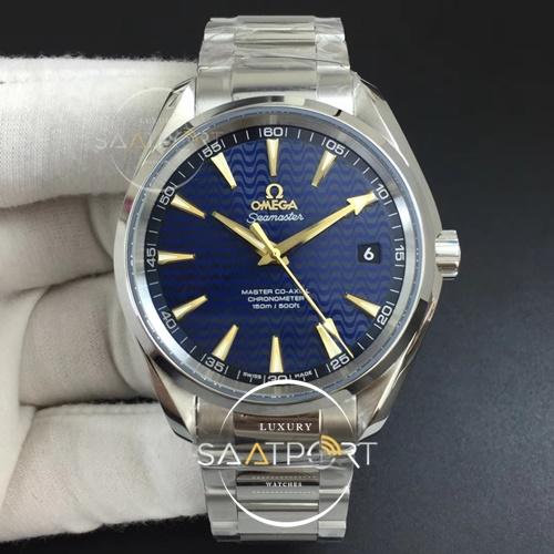 Omega Aqua Terra 41MM 150M SS VSF 11 Best Edition Blue Textured Dial YG Hand on SS Bracelet A8500 Su (9)
