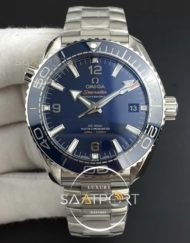 Omega Planet Ocean 43.5mm SS 3SF 11 Best Edition Blue Bezel Blue Dial on SS Bracelet A8900
