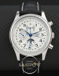 Longines Master Collection Moon Otomatik siyah Deri Kordon
