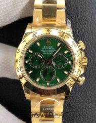 Rolex Eta Saat Daytona Yeşil Kadran 4130 SUPER CLON
