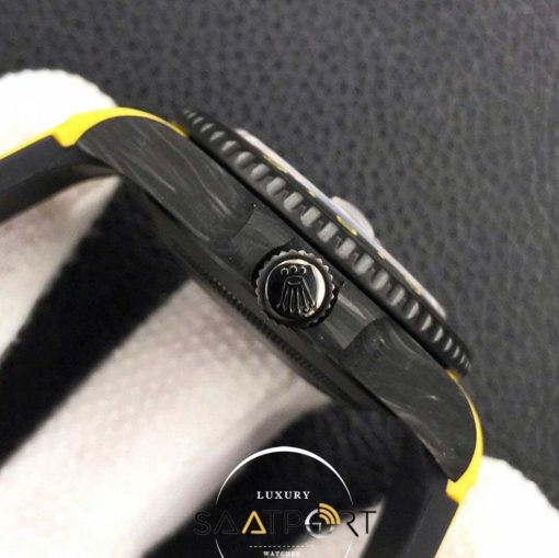Rolex Karbon Saat sarı Kasa Gmt Master Eta Saat Swiss Super Clon 3186 Eta Mekanizma