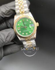 Rolex Datejust Taşlı Yeşil Kadran Jubile Kordon Otomatik Mekanizma