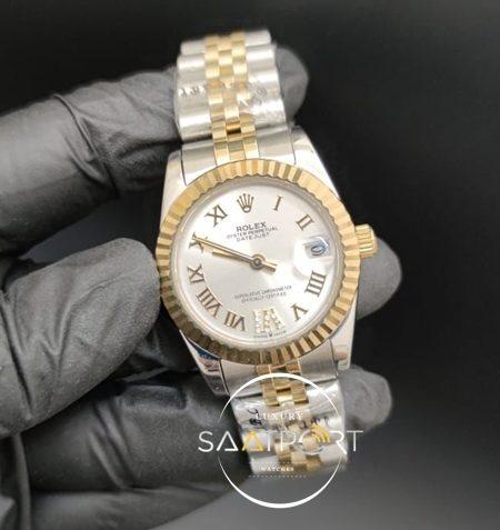 Rolex Datejust Roma Rakamlı Taşlı Gri Kadran Jubile Kordon Otomatik Mekanizma