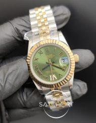 Rolex Datejust Roma Rakamlı Taşlı Yeşil Kadran Jubile Kordon Otomatik Mekanizma