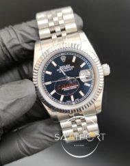 Rolex Datejust Tırtıklı Bezel Siyah Kadran Jubile Kordon Otomatik Mekanizma