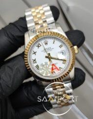 Rolex Saat DateJust Roma Rakamlı Beyaz Kadran Jubile Kordon Otomatik Mekanizma