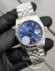 Rolex Saat DateJust Otomatik Mekanizma Mavi Kadran Düz Bezel Jubile Kordon